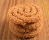 Murukku - pikantny, crunchy Południowa Indiańska przekąska Obrazy Stock