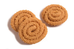 Murukku - savoury, a crunchy South Indian snack. Royalty Free Stock Images