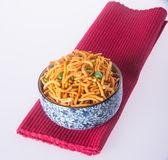 Murukku or traditional indian snack on background. Stock Photo