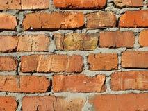 Murverk för röd tegelsten Arkivbild