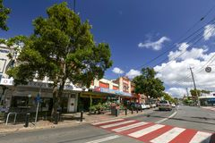 Murwillumbah NSW. MURWILLUMBAH, AUSTRALIA - APRIL 11: Wharf St in downtown Murwillumbah in New South Wales, Australia on April 11th 2018 Stock Image