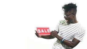 Murzyn podnosi sprzedaże podpisuje i zaskakuje, zwolnione tempo zbiory wideo