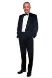 murzyna dojrzały krawata smoking Zdjęcia Royalty Free