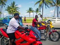 Murzyni na motocyklu Fotografia Stock