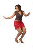 Murzynka młody taniec zdjęcia stock
