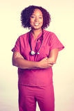 Murzynki pielęgniarka obrazy royalty free
