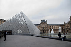 Musée du Louvre pyramid Royalty Free Stock Photography