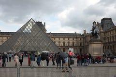 Musée du Louvre, Louvremuseum Royalty-vrije Stock Afbeeldingen