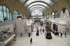 Musée som är d'Orsay i paris Arkivbild