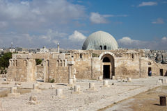 Musée à la citadelle à Amman Image libre de droits