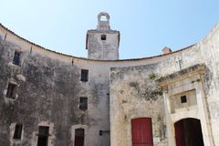 Musée antique de pierre dans des Frances d'Antibes Images stock