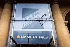 Musée célèbre Nobel dans la ville de Stockholm, Suède photos stock