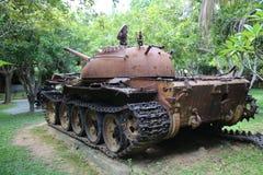 Musée Cambodge - réservoir de guerre Image stock