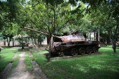 Musée Cambodge - réservoir de guerre Image libre de droits