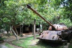 Musée Cambodge - réservoir de guerre Photos libres de droits
