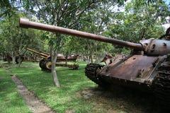 Musée Cambodge - réservoir de guerre Photographie stock libre de droits