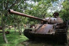Musée Cambodge - réservoir de guerre Photographie stock