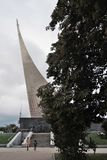 Musée commémoratif de la cosmonautique à Moscou images libres de droits
