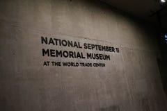9/11 musée commémoratif, point zéro, WTC Images stock