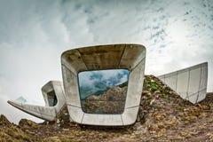 Musée Corones de montagne de Messner sur Kronplatz Image stock