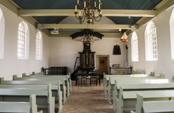 Musée d'église sur Schokland Flevoland images libres de droits
