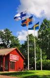Musée d'air ouvert, Aland, Finlande photo stock
