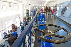 Musée d'approvisionnement en eau de Prague, usines hydrauliques de Podoli, Prague, tchèque Photos libres de droits