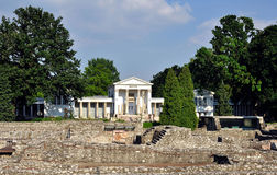 Musée d'Aquincum à Budapest Photos stock