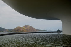 Musée d'Art de contemporain de Niteroi d'Oscar Niemeyer Image libre de droits