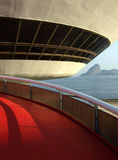 Musée d'Art de contemporain du ³ i d'Oscar Niemeyerâs Niterà Image stock