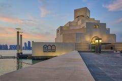 Musée d'art islamique, Doha, vue extérieure du Qatar en journée Images stock