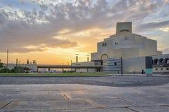 Musée d'art islamique, Doha, vue extérieure du Qatar en journée Image stock