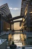 Musée d'Astrup Fearnley à Oslo pendant le crépuscule Photo libre de droits