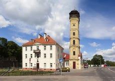 Musée d'histoire des pompiers et de la feu-tour Grodno belarus Photo stock