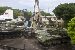 Musée d'histoire militaire à Hanoï Photos stock