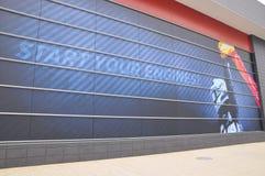 Musée d'inauguration F1 du conducteur Fernando Alonso Image stock