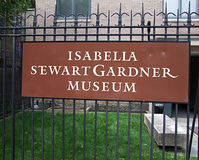 Musée d'Isabella Stewart Gardner photographie stock libre de droits