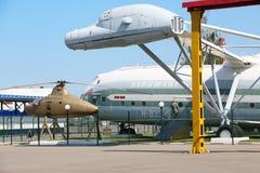 Musée dans l'hélicoptère de transport de fret V-12 (Mi-12) Photos libres de droits