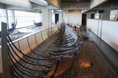 Musée de bateau de Viking à Roskilde, Danemark Images libres de droits