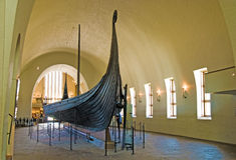 Musée de bateau de Viking. Oslo. La Norvège Photo stock