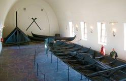 Musée de bateau de Viking. Oslo. La Norvège images libres de droits