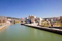 Musée de Bilbao Guggenheim panoramique Images libres de droits