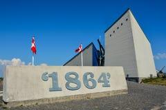 Musée de champ de bataille de la guerre 1864, Dybbol Banke, Danemark Images stock