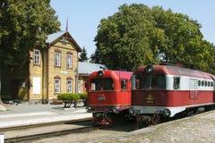 Musée de chemin de fer à voie étroite en Lithuanie Image libre de droits