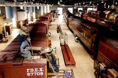 Musée de chemin de fer de la Pennsylvanie, Strasburg, Pennsylvanie, Etats-Unis photographie stock libre de droits