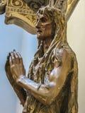 Musée de Duomo - ` s Mary Magdalene Wood Carving de Donatello Image stock