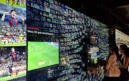 Musée de FC Barcelona en Catalogne, Espagne image stock