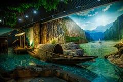 Musée de gorges de Chongqing Three Gorges Museum Three d'exposition d'histoire le ` magnifique de Three Gorges de ` Photos libres de droits