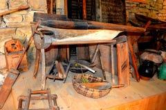 Musée de l'église saxonne médiévale enrichie dans Crit (Kreutz), la Transylvanie photo libre de droits