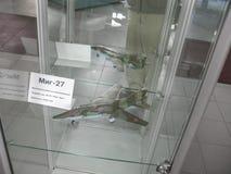 Musée de l'histoire du bâtiment de moteur d'avions Moteurs d'avions sur des supports Moteurs et moteurs à combustion interne de t Photos stock